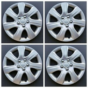 New Wheel Covers Hubcaps Fits 2010 2011 Toyota Camry Style 16 Silver Set Of 4