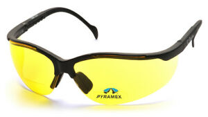 Pyramex Sb1830r20 V2 Readers Safety Glasses Frme Blk Lens Amber 2 0 12 Pair