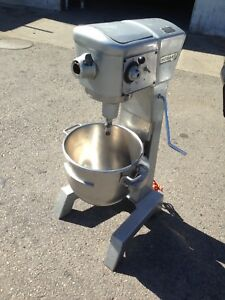 Hobart D300 Commercial 30 Qt Heavy Duty Bakery Dough Mixer W Attachments