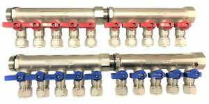 3 4 10 loops Ball Valve Brass Pex Manifold For 1 2 Pex
