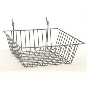 Only Hangers 12 X 12 X 4 Basket For Gridwall slatwall pegboard Chrome 3pk