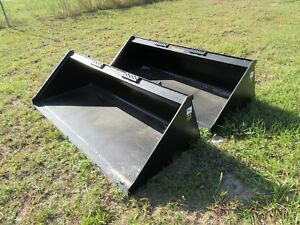 66 Low Profile Smooth Bucket For Skid Steer Tractor