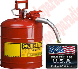 5gal Auto Mechanic Shop Gas Safety Can Oil Storage Tank Stainless Steel