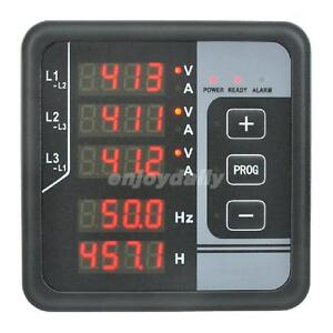 3 Phase Ac Voltmeter Frequency Ammeter Hours Alarm Generator Electricity Meter