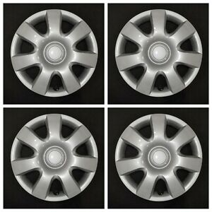 New Wheel Covers Hubcaps Fits 2002 2004 Toyota Camry 15 Silver Set Of 4