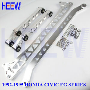 Billet Rear Control Arm Subframe Brace Tie Lca Bar For Honda Civic 92 95 Eg F7 8