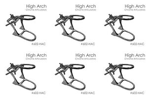 6x Dental Articulator High Arch Chrome Articulator