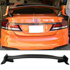 Fits 12 15 Honda Civic 9th Gen Fb Sedan Gen X Type R Unpainted Trunk Abs Spoiler
