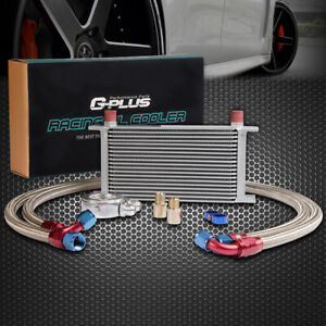 Gplus 19 Row An10 Universal Engine Transmission Oil Cooler Filter Adapter Kit