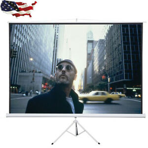 Portable 120 4 3 Tripod Compact Projector Projection Screen Matte Tool Home