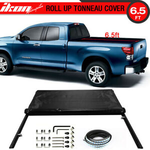 Fits 07 13 Toyota Tundra 6 5ft 78in Bed Lock Soft Roll Up Tonneau Cover