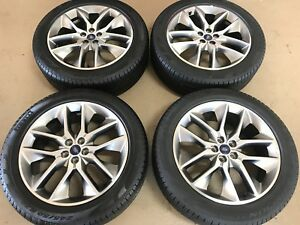 20 20 Inch Oem Factory Genuine Ford Edge Wheels Rims Tires Set 4 5x108 1007 e1a