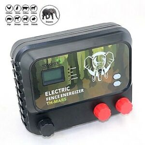 Electric Fence Energizer Charger 8j Lcd 30km Farm Wild Animals Elephant