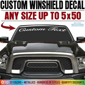 Custom Vinyl Text Lettering Decal Windshield Sticker Truck Car Jeep Window
