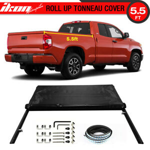 Fits 07 16 Tundra Sr5 Crewmax Double 5 5ft Bed Lock Soft Roll Up Tonneau Cover