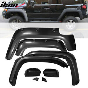 Fits 07 15 Toyota Fj Cruiser Pocket Style Fender Flares Wheel Cover 4pc Abs