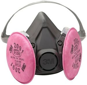 3m Respirator Half Face Large Mask Welding Industrial Paint Anti Dust Gas Protec