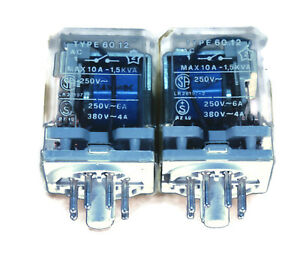 Lot Of 2 Finder Relay Type 60 12 10a 250v R i na