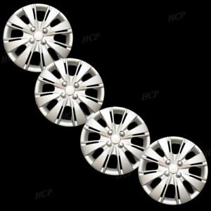 New Wheel Covers Replacements Fits 2012 2015 Toyota Yaris 15 Silver Set Of Four