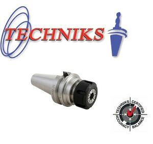 Techniks Bt40 Er16 Collet Chuck 100mm Long At3 Ground 16153