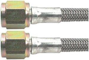 4 An 20 Stainless Braided Ptfe Brake Line Straight Ends 4 Hose