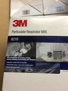 3m 8210 N95 Particulate Respirator Mask Case Of 160 free Us Shipping