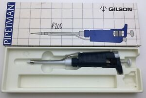 Gilson Pipetman Classic Variable Volume Pipette 20 200ul Small Top Calibrated