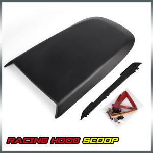 Front Racing Style Air Vent Hood Scoop For 2005 2009 Ford Mustang Gt V8 Black