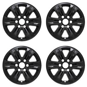 New Wheel Covers Fits 2015 2019 Ford F 150 Xl Xlt 17 Gloss Black Set Of 4