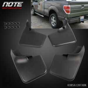 4pcs Mud Flap Splash Guard Mudguard With Fender Flares For Ford F 150 04 14
