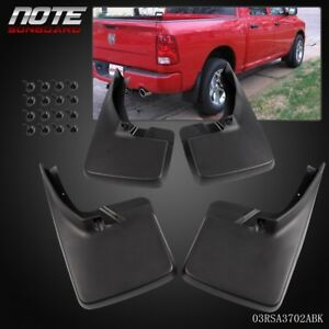 4pcs Mud Flap Splash Guard Mudguard For Dodge Ram 1500 2500 3500 2009 2018 2016