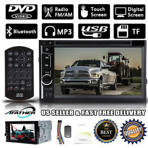 2din Bluetooth Car Dvd Stereo Radio Aux Touch Screen For Dodge Ram1500 2500 3500
