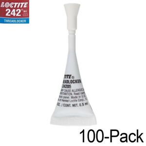Loctite 242 Medium strength Threadlocker Small job Pack 1 2ml 100 pack
