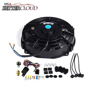 7 Inch Electric Radiator Cooling Fan And 3 8 Probe Ground Thermostat Switch Kit