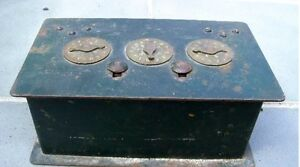 Combination Safe Treasure Chest Victorian Jewelry Cast Iron Wrought Early Xx C