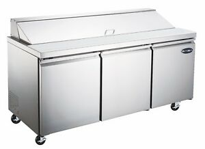 Saba 72 Commercial Stainless Steel Sandwich Prep Table Food Prep 18 Pans