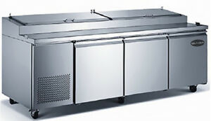 Saba 91 Stainless Steel Commercial Pizza Prep Table Food Storage 12 Pans