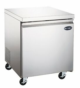 Saba 27 Commercial Undercounter Refrigerator Stainless Steel Food Storage