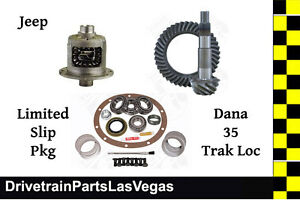 Dana 35 Trac Lock Posi Package Ring Pinion Gear Set 4 11 Ratio Master Kit Jeep