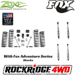 Zone Jeep Wrangler Jku 07 18 4 Door 3 Suspension Lift Kit W Fox Adventure 2 0