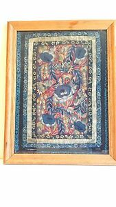 Beautiful Antique Chinese Silk Embroidery Qing Dynasty