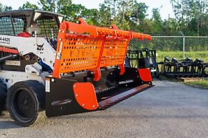 Skid Steer 84 Sweep Action Rock Grapple great For Any Material stumps logs rock