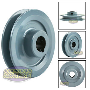4 Cast Iron Pulley 7 8 Shaft Sheave Single 1 Groove V Style A Belt 4l New