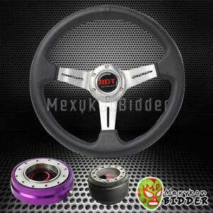 Silver Steering Wheel Purple Quick Release Adapter For Hyundai Accent Genesis