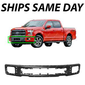 New Primered Steel Front Bumper Face Bar For 2015 2017 Ford F150 Pickup W Fog