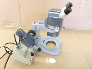 Reichert Stereo Zoom Microscope 0 7x 3x 10x Eyepieces Ao Scientific Light