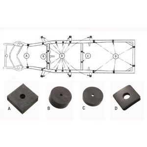 1949 50 Ford Car Body To Frame Pad Kit Part 8a 5001