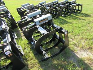 New Skid Steer Hd 66 In Grapple Dual Cylinder Brush Grapple