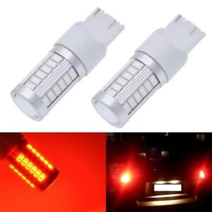Red T20 W21 5w 7443 7440 5630 33 Smd Led Dome Map Car Backup Reverse Light Bulbs