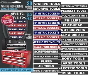 Adhesive Toolbox Labels Blue Edition Fits All Craftsman Tool Chest Drawers
